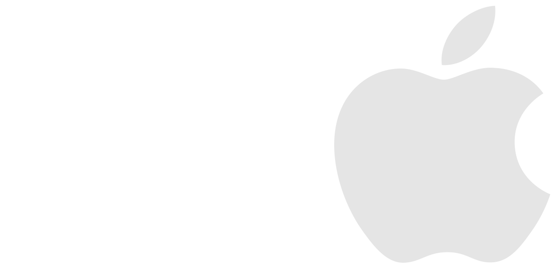 Logotipo Apple Difuminado para cabecera