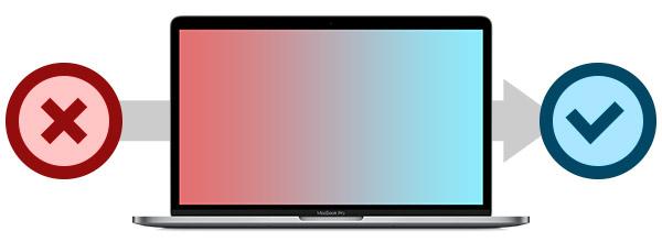 MacBook Pro después de un mantenimiento
